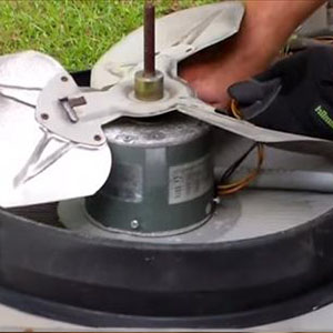 replacing a bad fan condenser motor ac repair