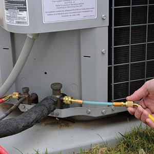 sealing refrigerant lines for ac repair